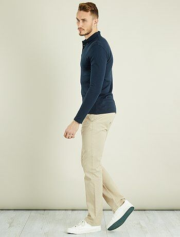 Homme du S au XXL - Pantalon chino regular L36 +1m90 - Kiabi