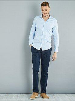 Homme de plus d'1m90 - Pantalon chino regular pur coton L36 +1m90