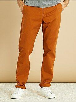 Homme du S au XXL Pantalon chino regular twill pur coton