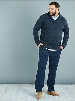 Pantalon chino regular twill stretch - Kiabi