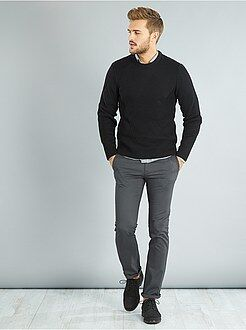 Pantalon chino regular twill stretch