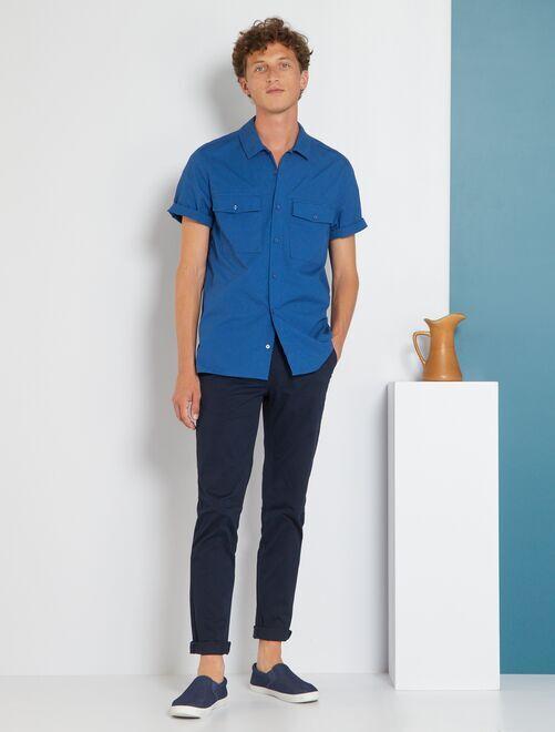Pantalon chino slim                                                                                                                                                                                                         bleu marine