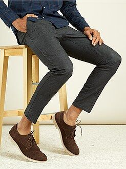 Pantalon chino - Pantalon chino slim pur coton