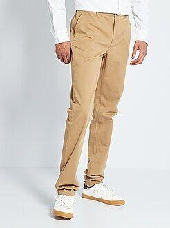 Homme de plus d'1m90 - Pantalon chino slim pur coton L38 +1m90
