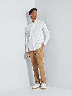 Homme du S au XXL - Pantalon chino slim stretch L36 +1m90 - Kiabi
