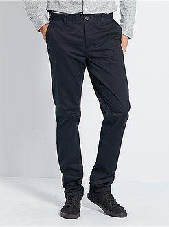 Pantalon - Pantalon chino slim stretch L36 +1m90 - Kiabi