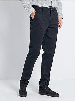 Pantalon - Pantalon chino slim stretch L38 +1m90 - Kiabi