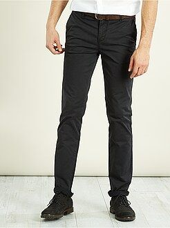 Pantalon chino slim stretch longueur US 32