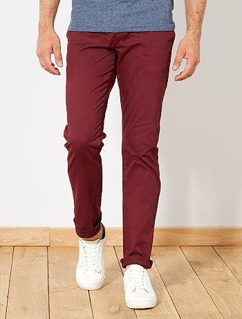 Pantalon chino slim twill stretch - Kiabi