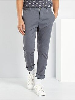 Pantalon chino - Pantalon chino slim twill stretch