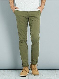 Homme du S au XXL Pantalon chino slim twill stretch