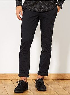 Pantalon chino - Pantalon chino slim twill stretch - Kiabi