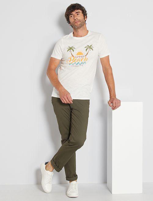 Pantalon chino stretch                                                                                                     kaki