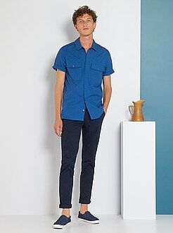 Pantalon slim - Pantalon chino twill de coton stretch