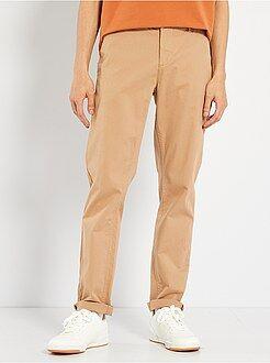 Pantalon - Pantalon chino twill de coton stretch