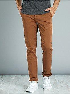 Pantalon chino - Pantalon chino twill de coton stretch