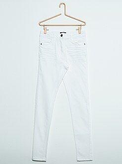 Fille 10-18 ans Pantalon couleur skinny en twill