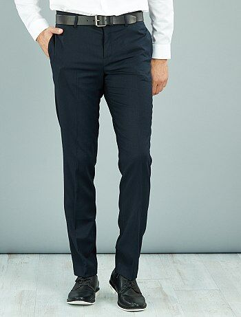 Pantalon de costume caviar stretch slim                                         bleu Homme