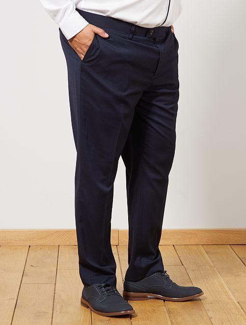 Pantalon de costume regular                             bleu Grande taille homme