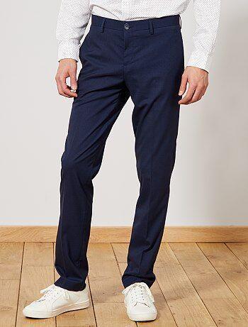 Pantalon de costume regular caviar - Kiabi