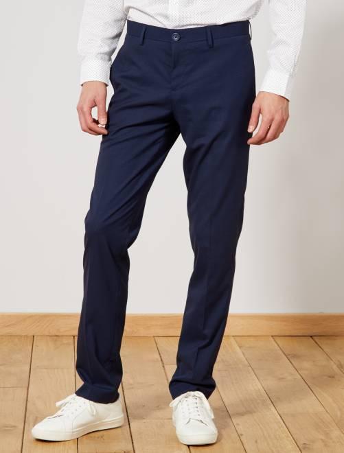 Pantalon de costume regular caviar                             bleu marine Homme