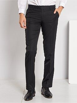 Costume noir - Pantalon de costume regular en twill