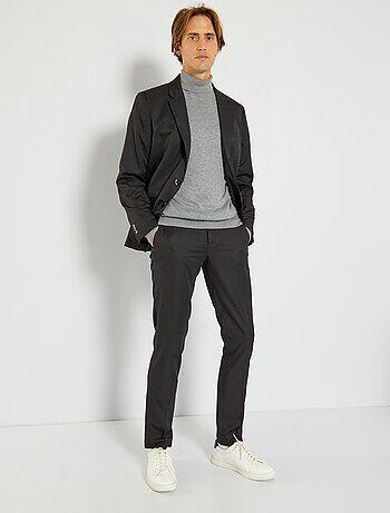 pantalon de costume slim en twill homme noir kiabi 15 00. Black Bedroom Furniture Sets. Home Design Ideas
