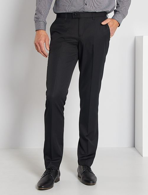Pantalon de costume slim en twill noir Homme