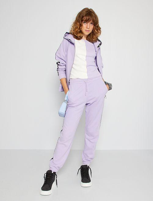 Pantalon de jogging bande imprimée                                                                                                                 lavande