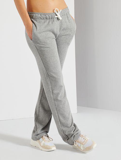 Pantalon de jogging molletonné                                         gris