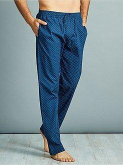 Homme du S au XXL Pantalon de pyjama en popeline pur coton