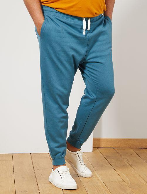 Pantalon de sport molletonné                                                                 bleu canard