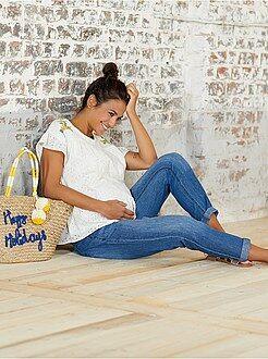 Maternité - Pantalon denim de maternité - Kiabi