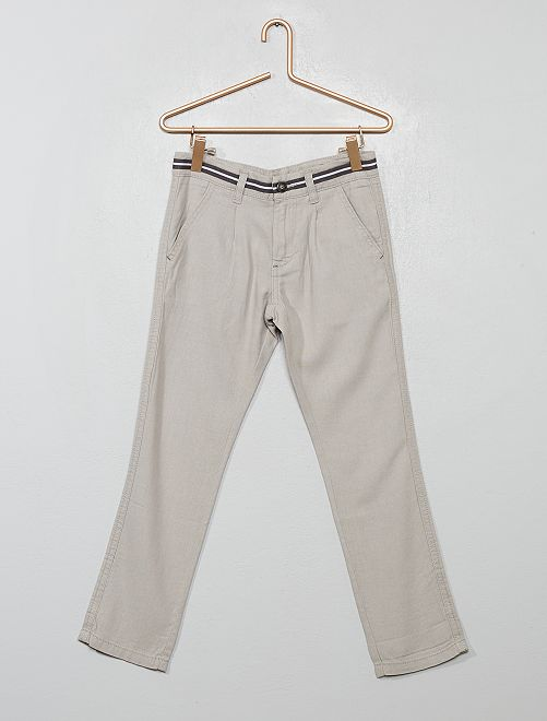 Pantalon droit chino                                         gris