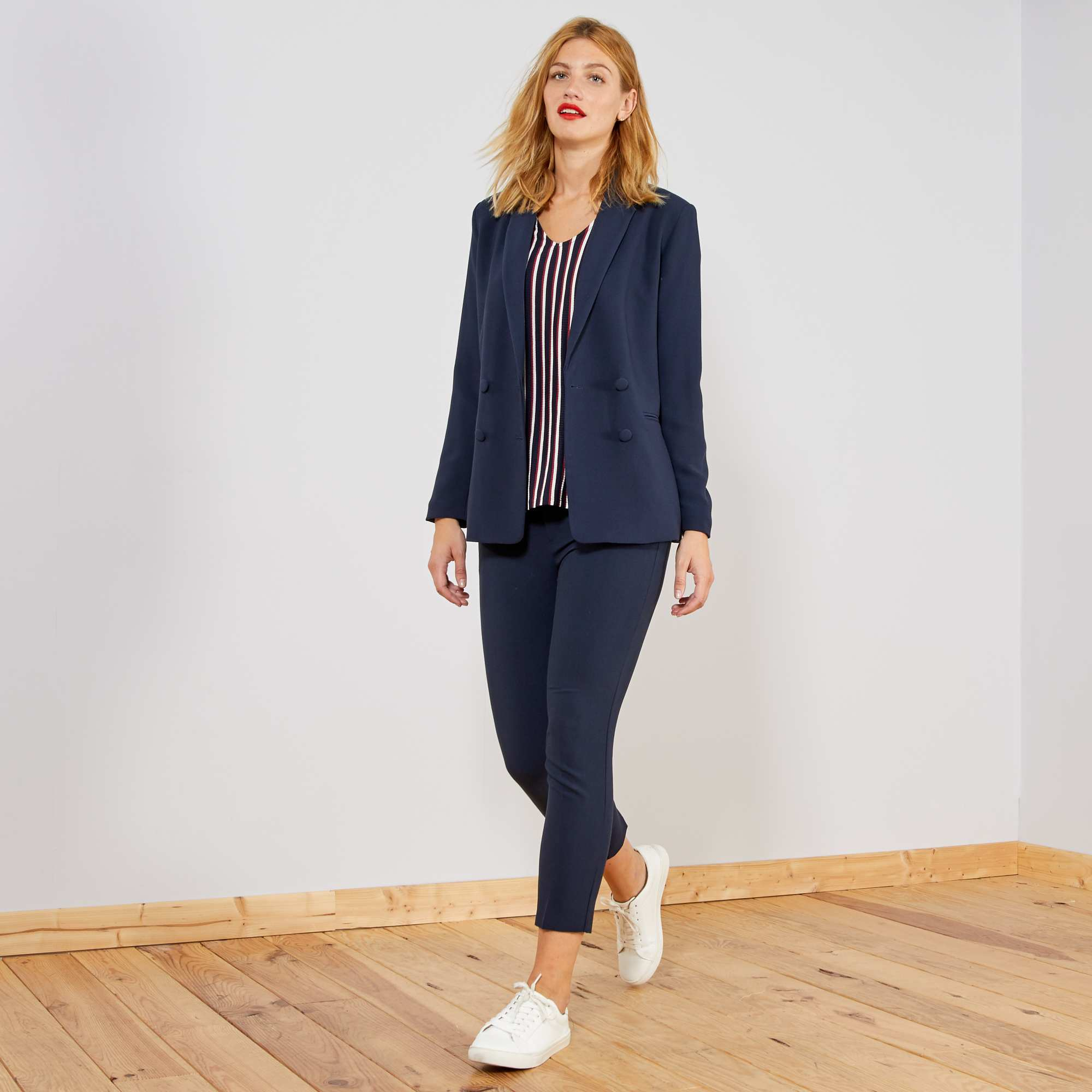 Femme Kiabi Bleu Topkzixlwu Droit Tailleur Pantalon Style 00 15 EbWDYeH2I9