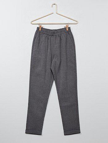 Fille 10-18 ans - Pantalon droit style tailleur - Kiabi