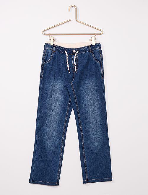 Pantalon en denim adapté                             bleu