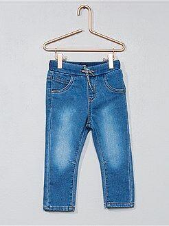 Pantalon en denim maille confort - Kiabi