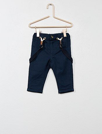 Pantalon en twill avec bretelles - Kiabi