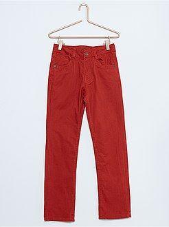 Pantalon en twill coupe droite