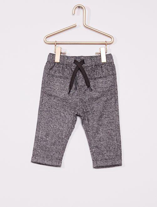 Pantalon flanelle éco-conçu                                                                 gris chiné