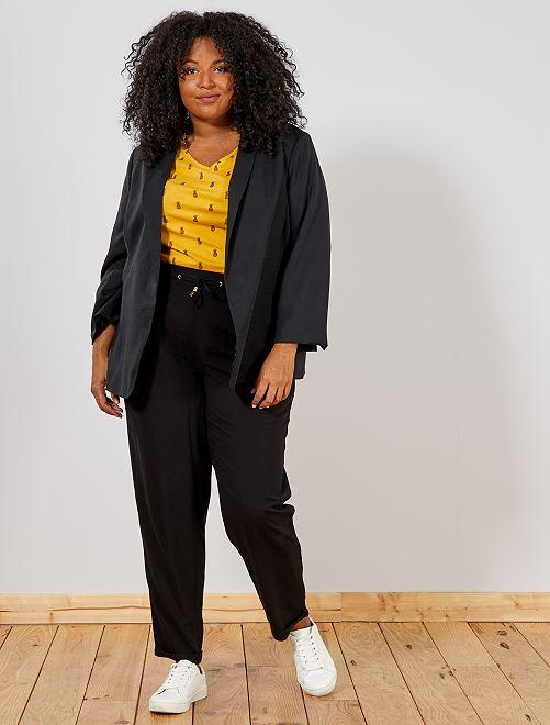 Pantalon fluide en viscose                                                                             noir Grande taille femme