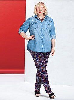 Pantalon large - Pantalon large fluide