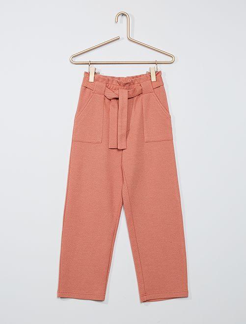 Pantalon maille lourde                                                                 orange/beige