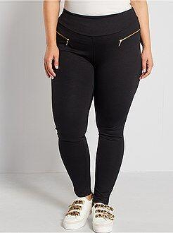 Pantalon - Pantalon maille milano zips fantaisie