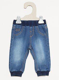 Denim - Pantalon molleton façon denim