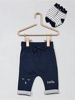 Ensemble - Pantalon molleton + paire de chaussettes - Kiabi
