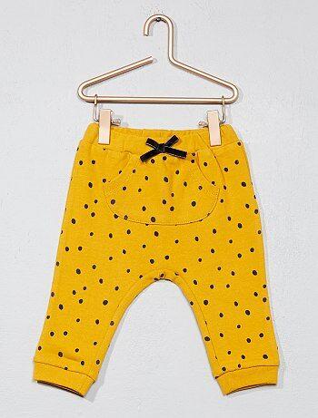Pantalon molletonné à pois - Kiabi