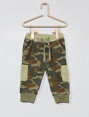 Pantalon molletonné camouflage - Kiabi