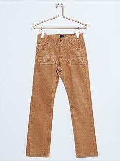 Pantalon - Pantalon regular en velours